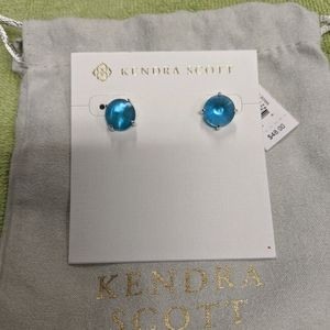 Kendra Scott Blue Illusion Peacock Earrings